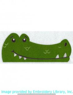 Stickmotiv Stickbild Aufnäher Stickerei Emblem Krokodil  Krokodil /  Stickerei Peeking Alligator (H3744)