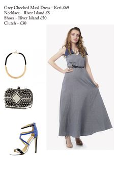 Styling tips for  this gorgeous grey checked maxi dress - Available @Keri Whaitiri #summer #womensfashion #dress #stylingtips