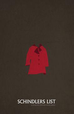 Schindler's List (1993) - Minimal Movie Poster by Jacquelyn Halpern #minimalmovieposter #alternativemovieposter #jacquelynhalpern #spielbergminimal