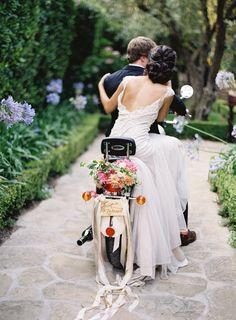 Photography : Jose Villa Photography | Wedding Dress :  Custom Design By Sarah Janks | Floral Design : Poppies & Posies Read More on SMP: http://www.stylemepretty.com/2016/01/27/al-fresco-garden-wedding-in-montecito/