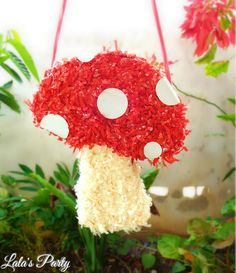 Items similar to Mushroom Pinata, Woodland Party, Fairy Tale Party, Story Book Theme Party Pinata on Etsy Ben And Holly Party Ideas, Diy Piñata, Butterfly Garden Party, Fox Party, Fairy Tale Theme, Whatsapp Wallpaper, Pinata Party, Fairy Birthday, Kids Party Decorations