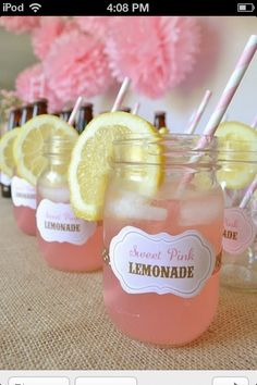 Cute drink idea for a country girl wedding
