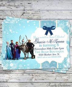 Disney Frozen Birthday Party Invitation Kids by RoyaltyInvitations, $5.00