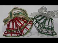 DIY. Como hacer Campanas de papel de periódico. How to Make paper bells. - YouTube