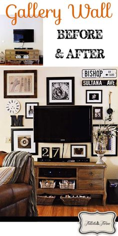 New Living Room Tv Wall Decor Apartments Pottery Barn 61 Ideas Home Living Room, Apartment Living, Living Room Decor, Vintage Gallery, Hm Deco, Inspiration Wand, Decor Around Tv, Home And Deco, Family Room