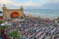 List of things to do in Daytona Beach area, including Mary McLeod Bethune heritage, dinosaurs at the Sugar Mill Gardens, the Lighthouse, and the beach side Bandshell Free Concert Series