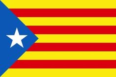 """Blue Starry Flag or """"Estelada Blava"""" a loved flag by all Catalan People."""