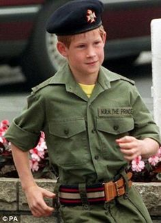 Prince Harry in 1993... dressed up as a soldier