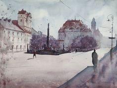 Watercolor Paintings, Art, Idea Paint, Watercolor, Art Background, Water Colors, Kunst, Performing Arts, Watercolour Paintings