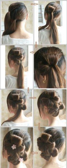 flower hair style