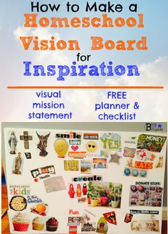 Check out how we use this visual to inspire & focus for our mission statement!  How To Use A Homeschool Vision Board For Inspiration - Busy Boys Brigade