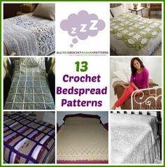 13 Crochet Bedspread Patterns | Free crochet patterns
