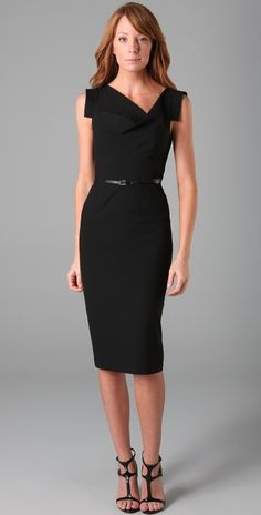 Ha! I found it!  the perfect little black dress that kim wore on the biggest loser.  too bad it is $345!