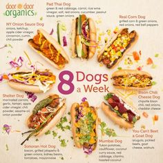 Summertime's in full swing, so have you grilled your first frankfurter yet? Find all these doggone good hot dog recipes in our 8 Dogs a Week collection. Onion Sauce, Hot Dog Recipes, Taste And See, Corn Dogs, Peppers And Onions, Looks Yummy, Light Recipes, Delish, Vegetarian Recipes