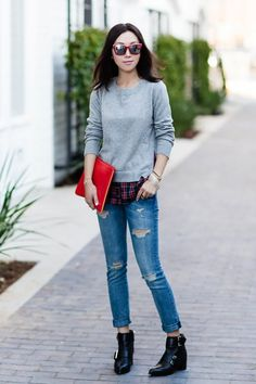 Goodnight Macaroon x Olivia Palermo Sweater Outfit