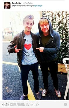 i like this pic... not just because Tom Felton is hot :)