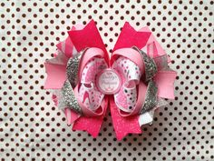 Ready To Ship Hairbow Pink Princess Hairbow by LilCutieBugBoutique, $8.99
