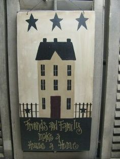 saltbox house crafts - Google Search