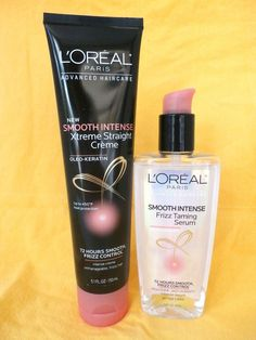 Double your hair care with L'Oreal Smooth Xtreme Straight Cream 5.1 oz & L'Oreal Frizz Taming Serum 3.4 oz. With oleo keratin, these hair products help soften and smooth each strand of hair. Useful stocking stuffers for girls, teens and women on your gift list. #LOreal