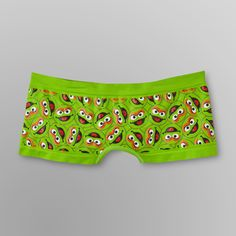 Add a little fun to your underwear collection with this women's ultra-soft, seamless boy short panty. This panty offers flattering style and a super comfy fit and features a bold graphic print pattern of Sesame Street's resident grouch, Oscar.