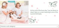"Doll Bed for 18"" to 20"" Dolls - Doll Beds & Accessories 