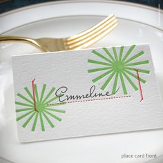 Star Burst Holiday Place Cards {