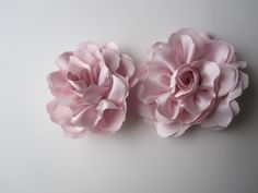 Spring flowers extra large handmade satin flowers by darlyndax, $12.00