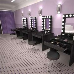 Broadway Lighted Vanity Makeup Desk - by Vanity Girl Hollywood. this is where you and your girls would get ready.