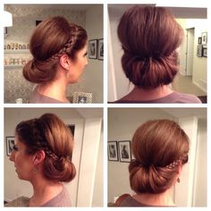 A chic up do with volume and braids!!