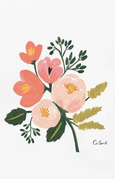 Draw Roses Rose Botanical by Rifle Paper Co. - It's always springtime any time of year with these colorful roses in a room. The artwork is reproduced on archival stock from a hand-painted gouache illustration created by Rifle Paper Co. Art Floral, Motif Floral, Illustration Blume, Botanical Illustration, Digital Illustration, Fantasy Illustration, Impressions Botaniques, Plant Drawing, Guache