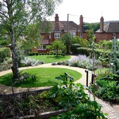 Image result for LAWNS WITH GRAVEL PATHS