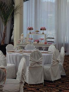Elegant bridal shower sweet candy buffet