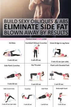 👊Best Exercise to Eliminate Side Fat and Build Sexy Obliques & Abs! You'll be Blown Away by These