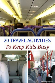20 Travel Activities To Keep Kids Busy - fun travel activity ideas for kids whether on a plane, car, or bus. Boredom busters for toddlers, kids, tweens, and teens for vacations.