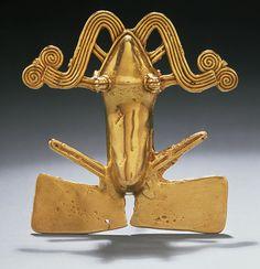 Frog Pendant, 11th–16th century Costa Rica; Chiriquí Gold