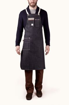 Dawson Denim Apron - The Hinged Pocket Mercantile | Menswear | Mens Fashion