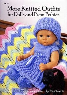 Craft Moods craft patterns, crochet, knitting and candlewicking books and Paragon crochet, tatting and knitting books plus a range of crochet patterns, discontinued crochet magazines and crochet books plus second hand books. Knitted Doll Patterns, Knitted Dolls, Baby Knitting Patterns, Crochet Dolls, Baby Patterns, Crochet Baby, Craft Patterns, Crochet Patterns, Knitting Dolls Clothes