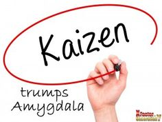 Set the vision and then outline the small Kaizen steps to get there, steps that your team can easily manage. Do not wake up the amygdala . Kaizen, Career Development, How To Get