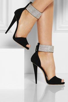 Giuseppe Zanotti Alien crystal-embellished suede sandals Sexy Haute! ht