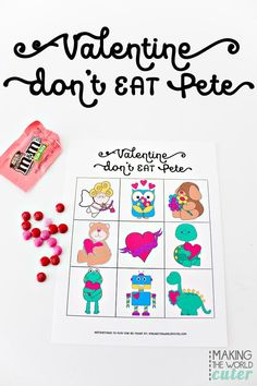 cute valentines card ideas cool free valentine printables don t eat pete gift ideas of cute valentines card ideas Cute Valentines Card, Valentines Games, Valentine Day Crafts, Valentine Party, Easy Diy Valentine's Day Cards, Teacher Cards, Free Printable Gift Tags, Candy Cards, Game Cards