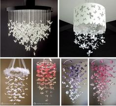 ` - Home Accessories Diy Diy Home Crafts, Diy Arts And Crafts, Paper Crafts, Diy Light Shade, Rosalie, Diy Home Accessories, Butterfly Decorations, Dollar Store Crafts, Diy Room Decor