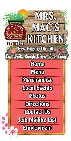 Mrs. Mac's Kitchen | American Seafood Restaurant | Key Largo, FL 33037