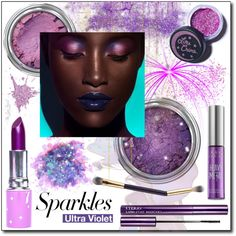 Sparkly Beauty: Ultra Violet by theseapearl on Polyvore featuring polyvore, beauty, Lime Crime, The Gypsy Shrine, Urban Decay, By Terry and tarte