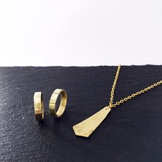 handmade jewels. ring and necklace.  hammered, gold.  www.hoctavius.com