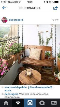 namoradeira na varanda.