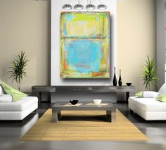 Large Abstract Painting Modern Abstract Painting Yellow Painting, Blue Painting acrylic on canvas 36 x 48 by Cheryl Wasilow von CherylWasilowArt auf Etsy https://www.etsy.com/de/listing/224824228/large-abstract-painting-modern-abstract