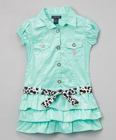 This Mint Ruffle Dress - Infant & Toddler is perfect! #zulilyfinds