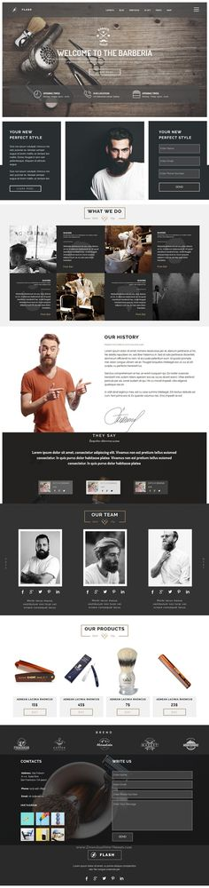 FLASH is creative multipurpose Muse #template for Business, Creative, Photography, Landing, Agency or Multipurpose #barber #website. Download Now!