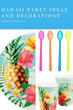 Create a Hawaii themed party in your home for a special occasion or birthday with our range of tableware, balloons, decorations and supplies. Our bright coloured decorations will set your party off! Party Themes, Party Ideas, Summer Parties, Best Part Of Me, Hawaiian, Party Supplies, Special Occasion, Balloons, Range
