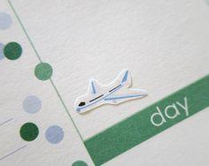 60 Plane Stickers | Erin Condren Stickers | Plum Paper Planner Stickers | Scrapbook | Erin Condren Life Planner | Filofax | Life Planner